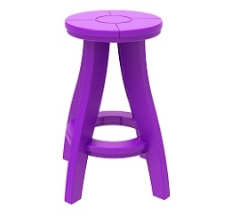 Poly Monarch Grand Bar Stool