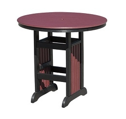 "Poly 44"" Round Bar Table"