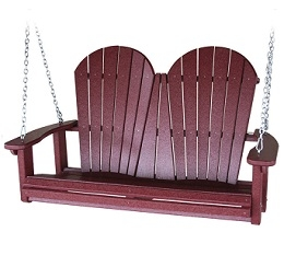 Poly Adirondack Porch Swing