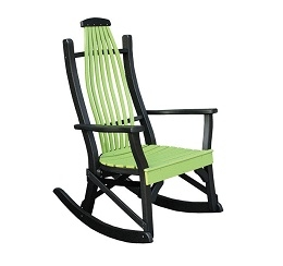 Poly Bent Porch Rocker