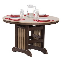 "Poly 44"" Round Table"